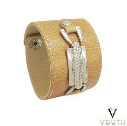 Bracelete Feminino De Couro